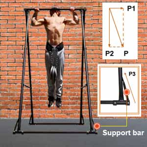 kt folding pull up bar stand